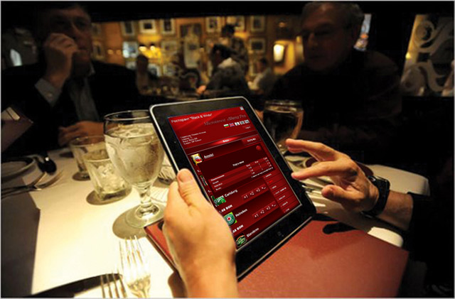 Electronic interactive menu for restaurants and cafés