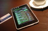 Electronic interactive menu in cafe